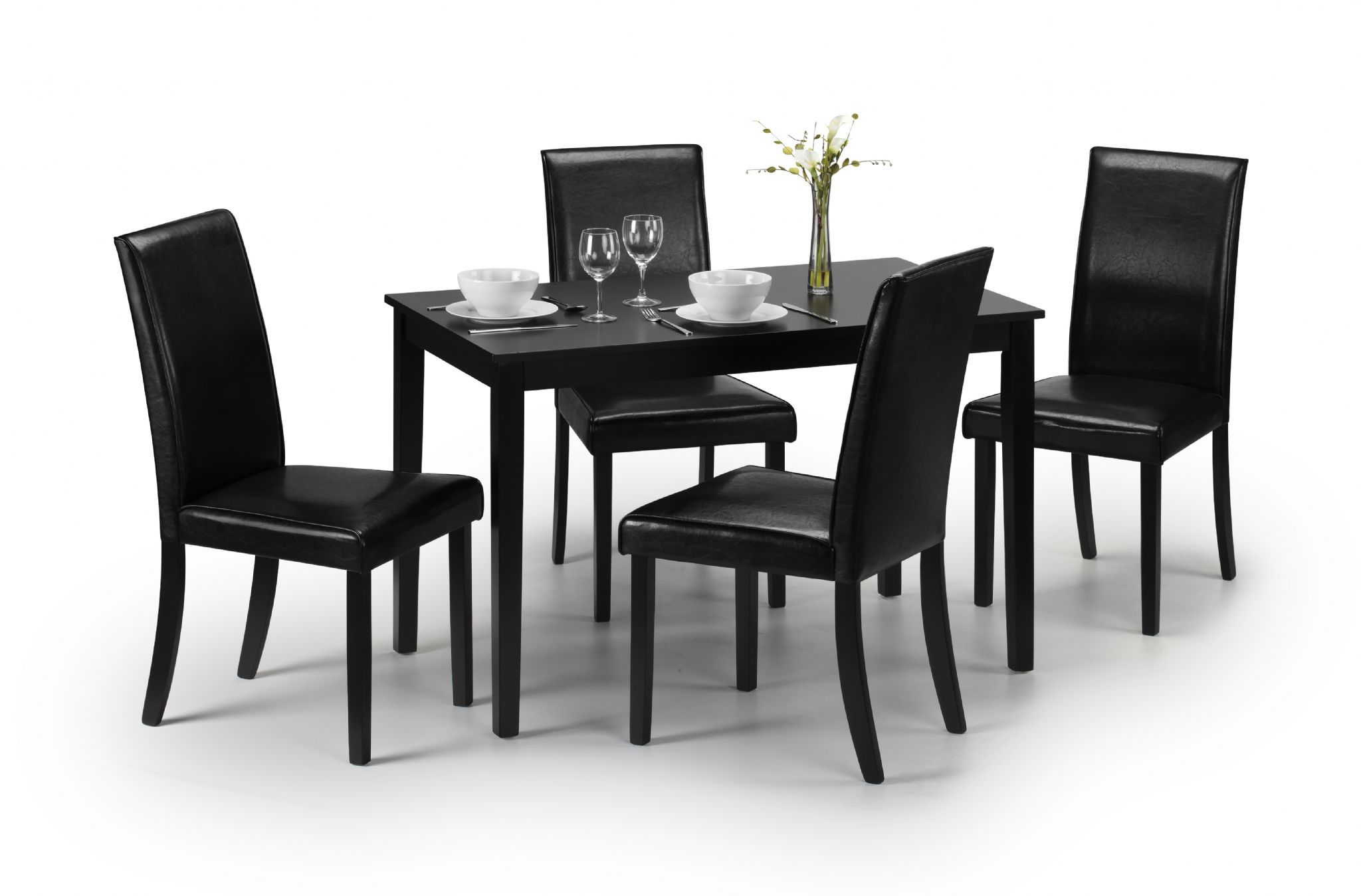 Catania modern black lacquered dining table jb